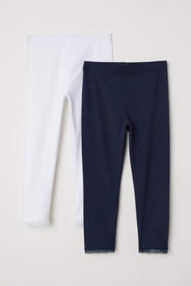 H&M 2-pack 3/4-length Leggings - Blue