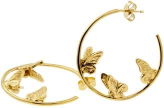 Lee Renee Butterfly Hoop Earrings - Gold