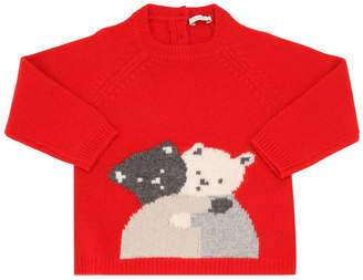 Il Gufo Bears Intarsia Wool Knit Sweater