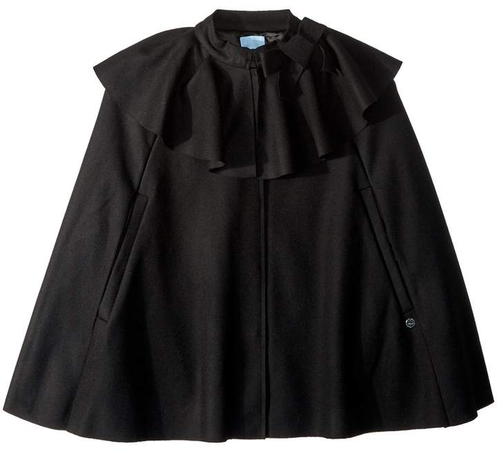 Lanvin Kids Wool Cape with Bow Detail (Big Kids)