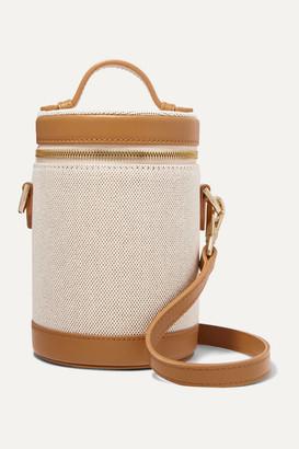 Paravel Leather-trimmed Cotton-canvas Shoulder Bag - Tan