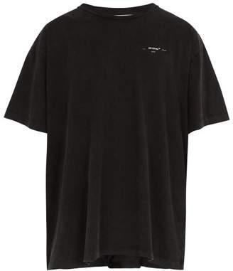 Off-White Off White Logo Print Cotton T Shirt - Mens - Grey