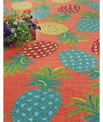 Company C CompanyC Pineapples Coral Indoor/Outdoor Area Rug