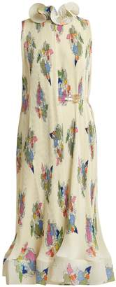 Tibi Camelia floral-print pleated dress