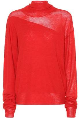 Helmut Lang Wool and silk sweater