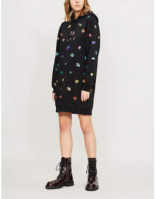 Kenzo Logo-embroidered cotton-jersey dress