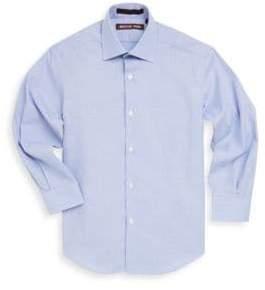 Michael Kors Boy's Textured Cotton Collared Shirt
