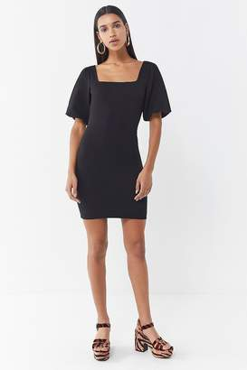 Urban Outfitters Holly Puff Sleeve Bodycon Dress