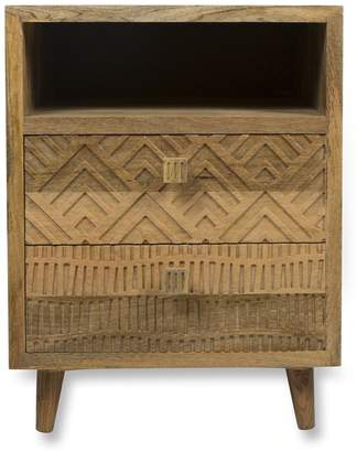 Home & Giftware Ashanti Two Drawer Bedside