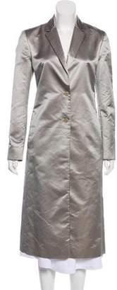 Calvin Klein Collection Satin Long Coat
