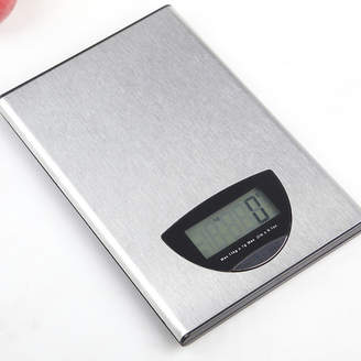 Silver 5kg Flat Stainless Steel Kitchen Scale