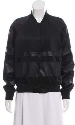Alexander Wang Leather-Accented Varsity Jacket
