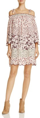 En Créme Cold-Shoulder Scalloped Dress $68 thestylecure.com