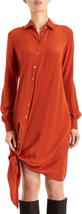 Thakoon Side Tie Shirt Dress Sale up to 60% off at Barneyswarehouse.com