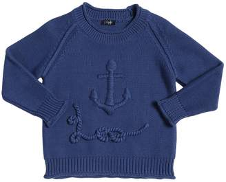 Il Gufo Embroidered Tricot Sweater