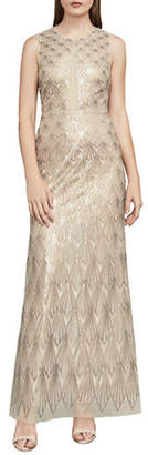 BCBGMAXAZRIA Patti Sleeveless Sequin Gown