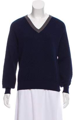 Cédric Charlier Virgin Wool V-Neck Sweater