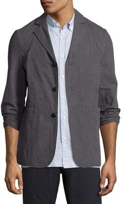 Billy Reid Luther Seersucker Blazer Jacket, Charcoal