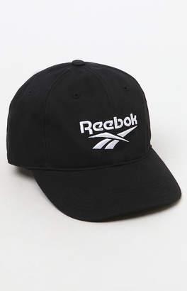 Reebok Black Strapback Dad Hat