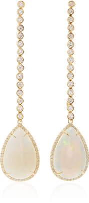 Octavia Elizabeth Opal and Diamond Kelly Earring