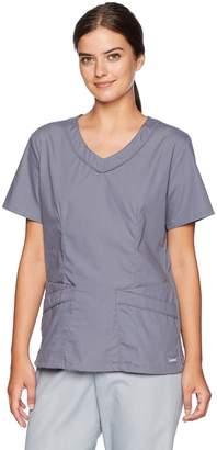 Landau Plus Size Women's Rounded V-Neck Medical Scrub TOP