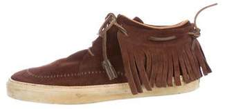 Gucci Fringe Suede Sneakers