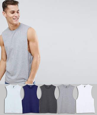 Asos DESIGN tank with dropped arm hole 5 pack SAVE