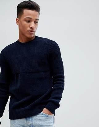 Celio Chenille Sweater In Contrast Texture