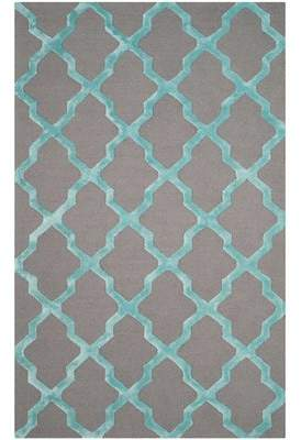 Parker Darby Home Co Lane Hand-Tufted Gray/Turquoise Area Rug