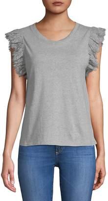 Zero Degrees Celsius Women's Ruffle Linen T-Shirt