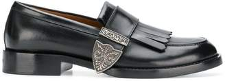 Givenchy buckled fringe loafers
