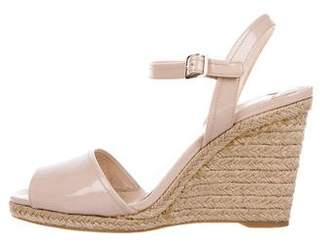 Prada Patent Leather Espadrille Wedges