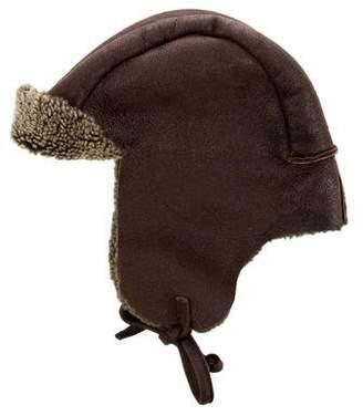 Barneys NY Kids Boys' Shearling Lined Trapper Hat