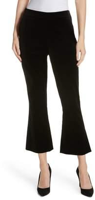 Frame Split Hem Flare Leg Velvet Pants