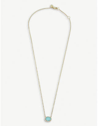 Meira T The Alkemistry 14ct yellow-gold amazonite necklace
