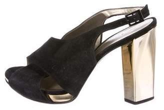 Diane von Furstenberg Suede Crossover Sandals