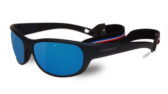 Vuarnet Men's Matt Mirror Nylon Wrap Sunglasses with Removable Strap