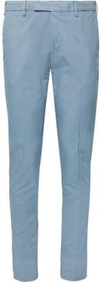 Boglioli Slim-fit Stretch-cotton Twill Chinos - Light blue