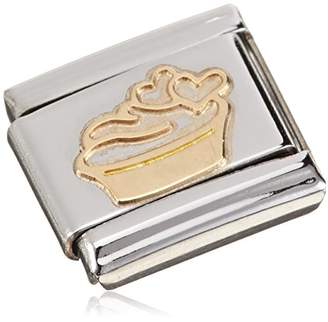 Nomination Charm-Monsieur MADAME and apple with Heart Design 18–Carat Gold/Stainless Steel/Enamel - 030285/11 tbBKo0PJa