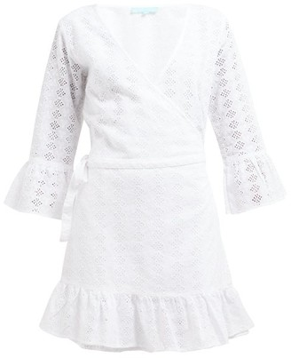 Melissa Odabash Vogue Broderie Anglaise Cotton Wrap Dress - Womens - White