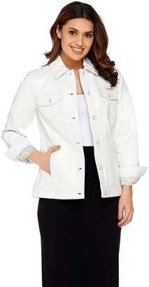 Denim & Co. Lamb Leather Jean Jacket