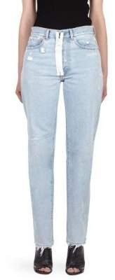Off-White Destructed Straight-Leg Jeans