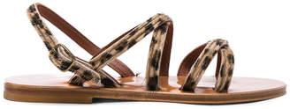 K. Jacques Calf Hair Datura CC Sandals