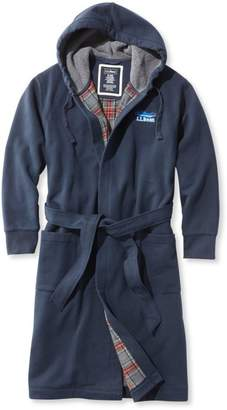 L.L. Bean L.L.Bean Men's Rugby Robe, Flannel-Lined