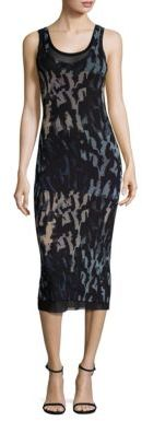 Fuzzi Abstract Tank Midi Dress $395 thestylecure.com