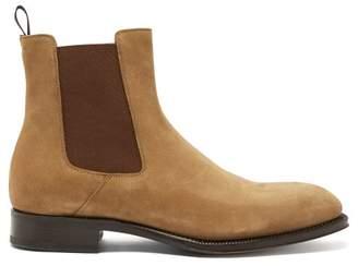 Alexander McQueen Goodyear Suede Chelsea Boots - Mens - Brown