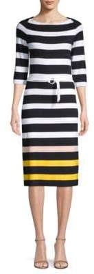BOSS Elsara Striped Jersey Sheath Dress