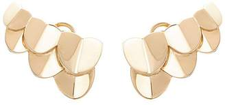 Fred 'UNE ÎLE D'OR' 18k yellow gold scalloped earrings