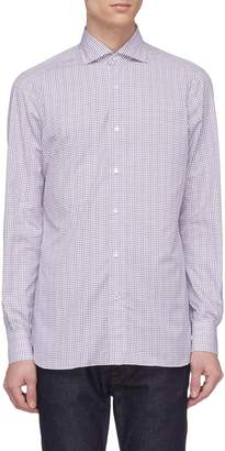 Isaia Check plaid shirt