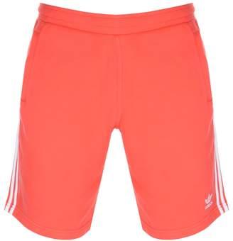 adidas Three Stripe Shorts Red